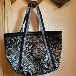 Lululemon gym bag / grey flower tote
